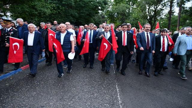 Karabük'te 'Milli Birlik' yürüyüşü