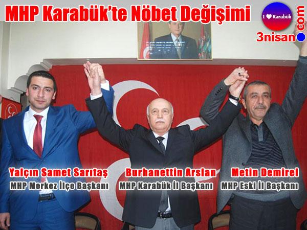 MHP Karabük'te nöbet değişimi