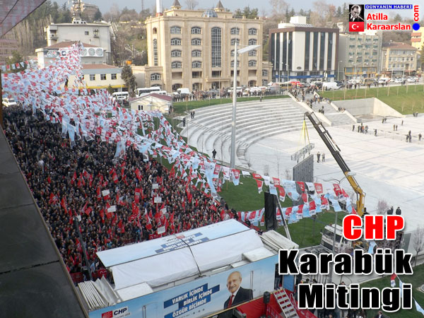CHP Lideri Kemal Kılıçdaroğlu, Karabük'te halka hitap etti