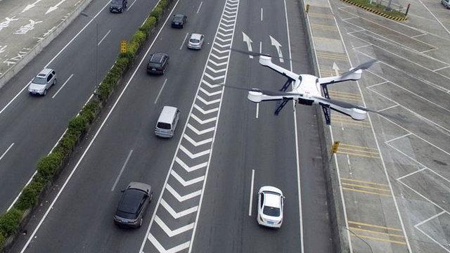 Havadan Drone ile trafik denetimi