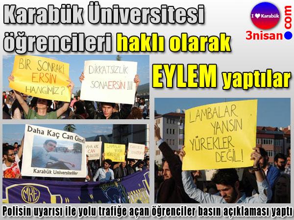 Karabük Üniversite öğrencileri sonunda isyan etti