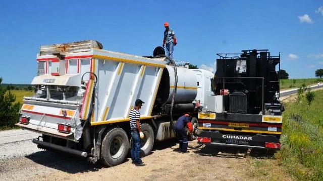 Eskipazar'da asfalt çalışması