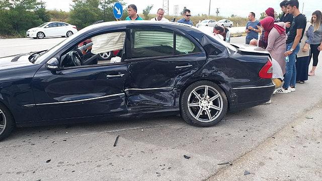 Eskipazar'da trafik kazası