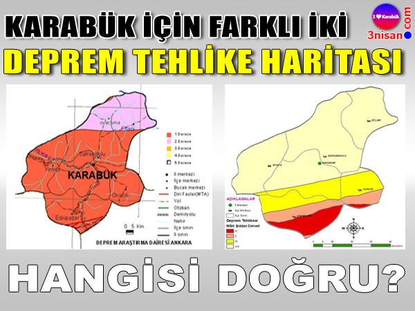 Karabük deprem tehlike haritası