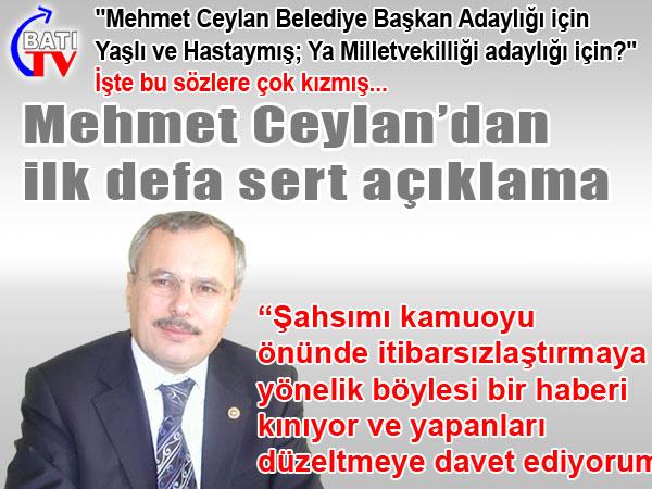 Mehmet Ceylan'ın Basın Açıklaması