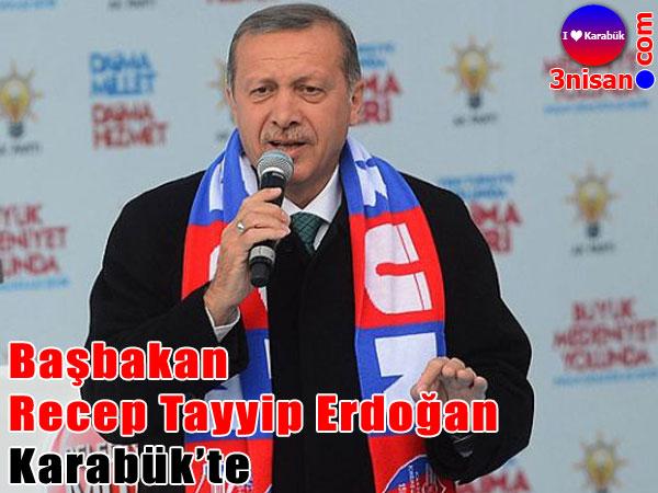 Başbakan Recep Tayyip Erdoğan Karabük'te halka seslendi