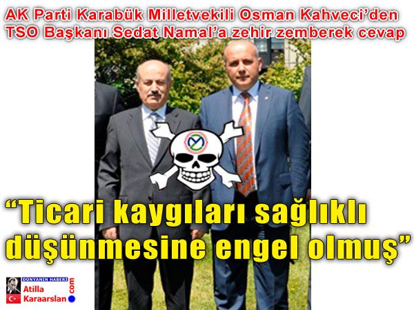 Osman Kahveci, Namal'a çok sert cevap verdi