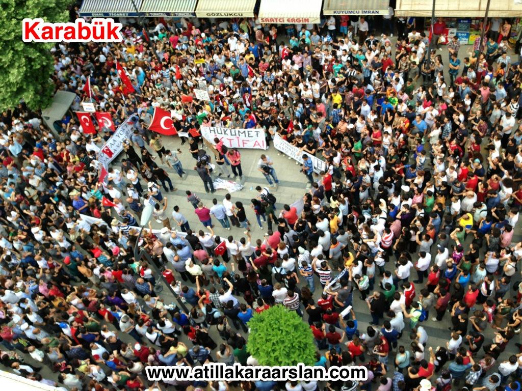 Karabük'te Taksim Gezi Park'a destek