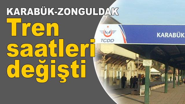 Karabük-Zonguldak tren saatleri değişti