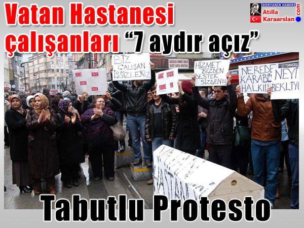 Tabutlu protesto